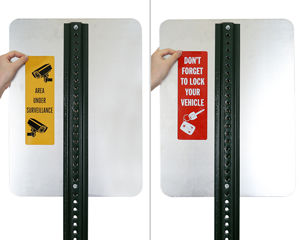 Parking Lot Sign Decals with Graphic