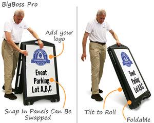 BigBoss Premium custom A-Frame template is foldable