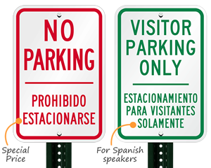 Bilingual parking signs