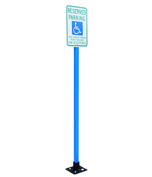 Blue Plastic Sign Posts