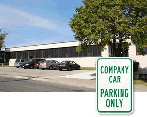 Business Reserved Parking Signs - by Title