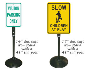 Cast iron sign bases