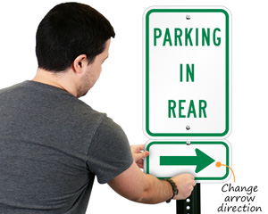 Change parking arrow sign direction