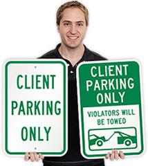 Client Parking Signs