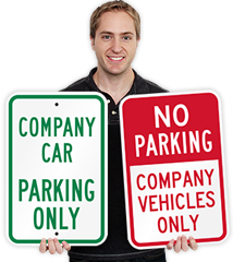 Company Parking Signs