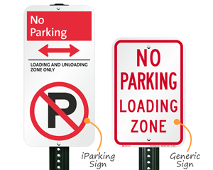 Compare iParking with traditional no parking signs