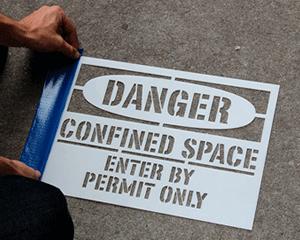 Confined Space Stencils
