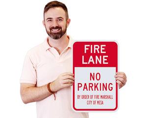 custom fire lane sign