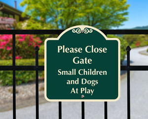 Custom gate sign