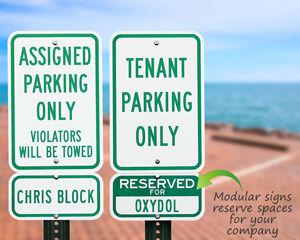 Custom parking spot signs