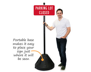 Custom sign with portable base