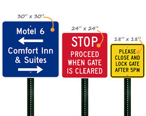 Custom square signs