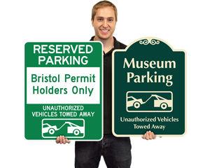 Custom tow away signs