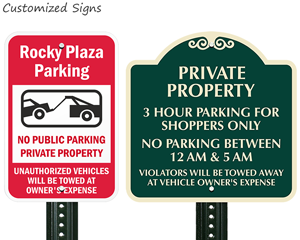 Private Property No Parking Signs - MyParkingSign