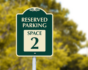 Decorative parking space signs