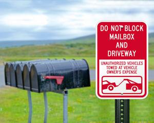 Do not block mailbox sign