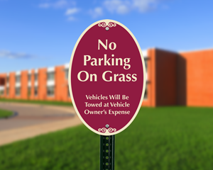 Don't park on the grass