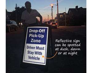 Reflective Prortable Drop Off Sign