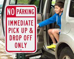 Drop off sign