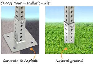 Economy Square Steel Post Kits