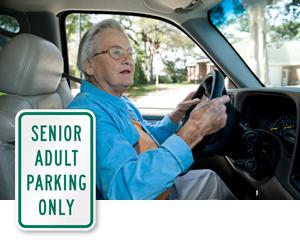 Elderly Parking Signs