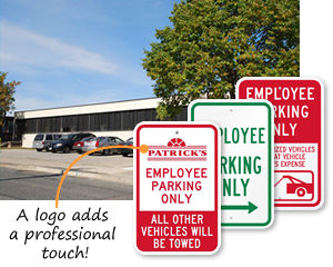 Employee Parking Only Signs