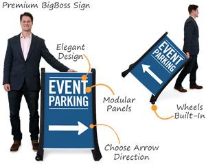 Event parking bigboss signs