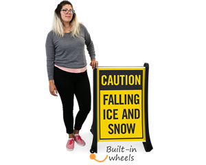 Falling ice and snow warning sign