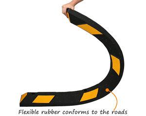 Flexible rubber parking wheel stop