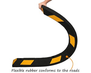 Flexible rubber parking wheel stop