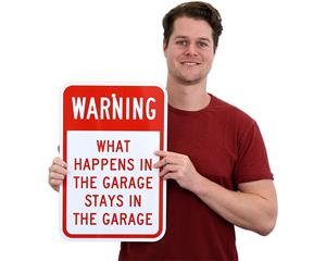 Funny Garage Signs