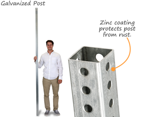 Galvanized post