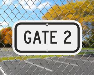 Gate ID Sign