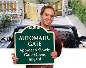 Gate Opens Inward/Outward