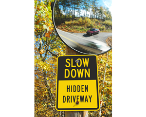 Hidden drive signs