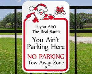 Holiday No Parking Signage