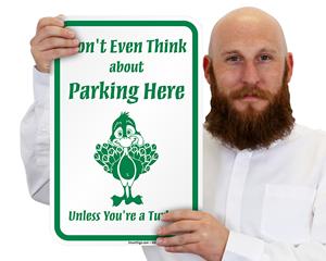 Holiday No Parking Signs