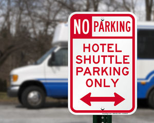Hotel Shuttle Parking Signs