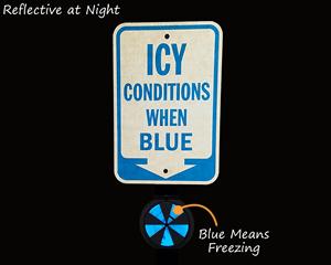 Ice alert reflectors at night