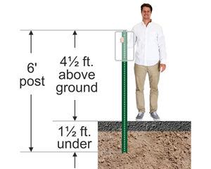 6' tall u-channel sign post