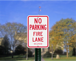 Iowa Parking Signs, Fire Lane Signs and Other Regulated Signs