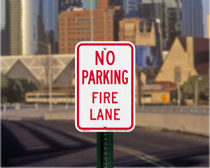 Kansas Parking Signs, Fire Lane Signs and Other Regulated Signs