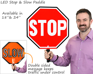 LED stop and slow paddle