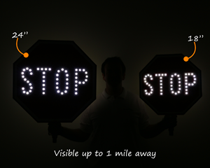LED stop paddle