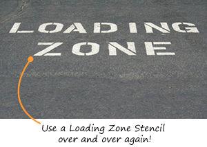 Loading Zone Stencils
