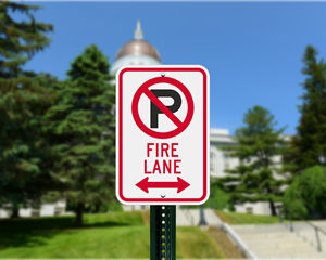 Maine Parking Signs, Fire Lane Signs and Other Regulated Signs