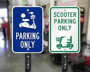 Mobility scooter signs