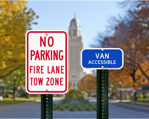 Nebraska Parking Signs, Fire Lane Signs and Other Regulated Signs