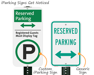 New parking sign designs