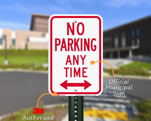 No Parking Anytime Parking Sign